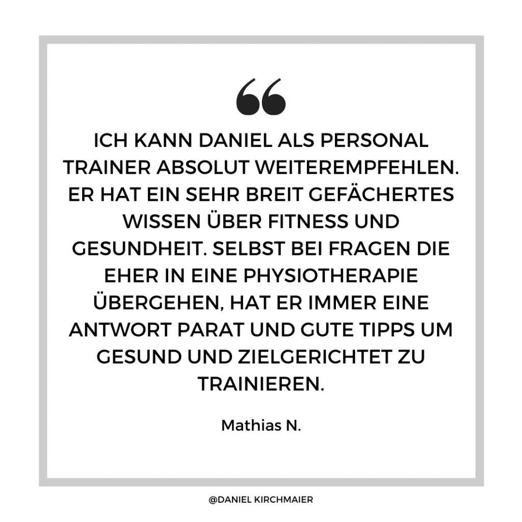 Testimonial Personal Training
